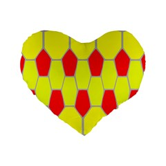 Football Blender Image Map Red Yellow Sport Standard 16  Premium Heart Shape Cushions by Alisyart