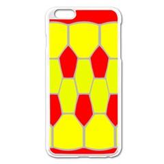 Football Blender Image Map Red Yellow Sport Apple Iphone 6 Plus/6s Plus Enamel White Case by Alisyart