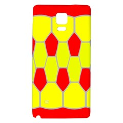 Football Blender Image Map Red Yellow Sport Galaxy Note 4 Back Case