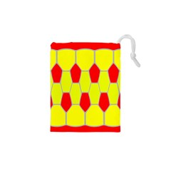 Football Blender Image Map Red Yellow Sport Drawstring Pouches (xs)  by Alisyart