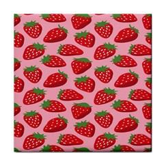 Fruit Strawbery Red Sweet Fres Tile Coasters by Alisyart