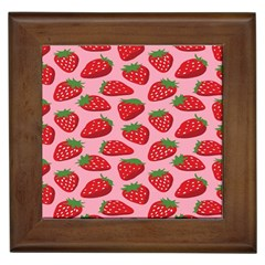 Fruit Strawbery Red Sweet Fres Framed Tiles by Alisyart