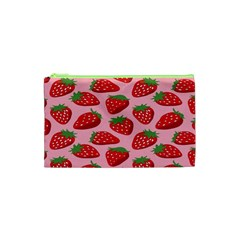 Fruit Strawbery Red Sweet Fres Cosmetic Bag (xs) by Alisyart