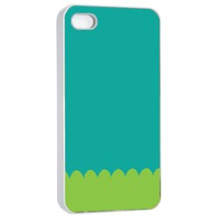 Green Blue Teal Scallop Wallpaper Wave Apple Iphone 4/4s Seamless Case (white) by Alisyart
