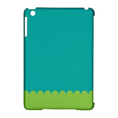 Green Blue Teal Scallop Wallpaper Wave Apple Ipad Mini Hardshell Case (compatible With Smart Cover) by Alisyart