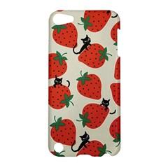 Fruit Strawberry Red Black Cat Apple Ipod Touch 5 Hardshell Case by Alisyart