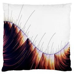Abstract Lines Standard Flano Cushion Case (one Side) by Simbadda