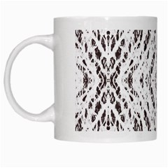 Pattern Monochrome Terrazzo White Mugs by Simbadda