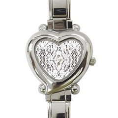 Pattern Monochrome Terrazzo Heart Italian Charm Watch by Simbadda