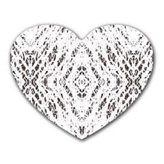 Pattern Monochrome Terrazzo Heart Mousepads by Simbadda