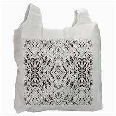 Pattern Monochrome Terrazzo Recycle Bag (Two Side)  by Simbadda