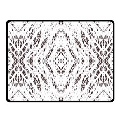 Pattern Monochrome Terrazzo Fleece Blanket (small) by Simbadda