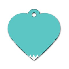 Grey Wave Water Waves Blue White Dog Tag Heart (one Side) by Alisyart