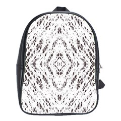 Pattern Monochrome Terrazzo School Bags (xl)  by Simbadda