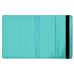 Grey Wave Water Waves Blue White Apple Ipad 2 Flip Case by Alisyart