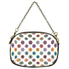 Flowers Color Artwork Vintage Modern Star Lotus Sunflower Floral Rainbow Chain Purses (one Side)  by Alisyart