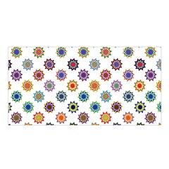 Flowers Color Artwork Vintage Modern Star Lotus Sunflower Floral Rainbow Satin Shawl by Alisyart