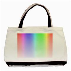 Layer Light Rays Rainbow Pink Purple Green Blue Basic Tote Bag by Alisyart