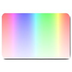 Layer Light Rays Rainbow Pink Purple Green Blue Large Doormat  by Alisyart