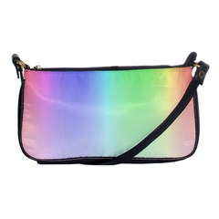 Layer Light Rays Rainbow Pink Purple Green Blue Shoulder Clutch Bags by Alisyart