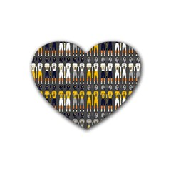 Football Uniforms Team Clup Sport Heart Coaster (4 Pack)  by Alisyart