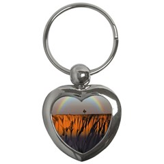 Rainbows Landscape Nature Key Chains (heart)  by Simbadda