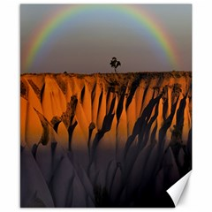 Rainbows Landscape Nature Canvas 8  X 10  by Simbadda