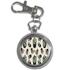 Succulent Plants Pattern Lights Key Chain Watches by Simbadda