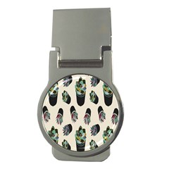 Succulent Plants Pattern Lights Money Clips (round)  by Simbadda
