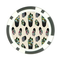 Succulent Plants Pattern Lights Poker Chip Card Guard by Simbadda
