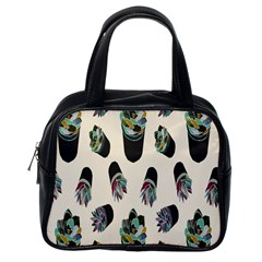Succulent Plants Pattern Lights Classic Handbags (one Side) by Simbadda