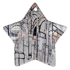 Cityscapes England London Europe United Kingdom Artwork Drawings Traditional Art Star Ornament (two Sides) by Simbadda