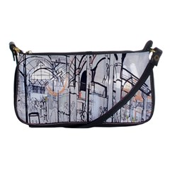 Cityscapes England London Europe United Kingdom Artwork Drawings Traditional Art Shoulder Clutch Bags by Simbadda