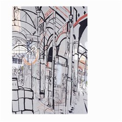 Cityscapes England London Europe United Kingdom Artwork Drawings Traditional Art Large Garden Flag (two Sides) by Simbadda