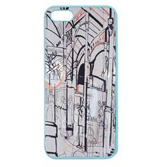 Cityscapes England London Europe United Kingdom Artwork Drawings Traditional Art Apple Seamless Iphone 5 Case (color) by Simbadda