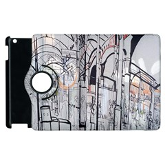 Cityscapes England London Europe United Kingdom Artwork Drawings Traditional Art Apple Ipad 3/4 Flip 360 Case by Simbadda