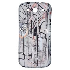 Cityscapes England London Europe United Kingdom Artwork Drawings Traditional Art Samsung Galaxy S3 S Iii Classic Hardshell Back Case by Simbadda