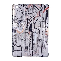 Cityscapes England London Europe United Kingdom Artwork Drawings Traditional Art Apple Ipad Mini Hardshell Case (compatible With Smart Cover) by Simbadda