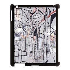 Cityscapes England London Europe United Kingdom Artwork Drawings Traditional Art Apple Ipad 3/4 Case (black) by Simbadda