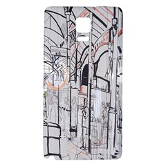 Cityscapes England London Europe United Kingdom Artwork Drawings Traditional Art Galaxy Note 4 Back Case