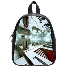 Digital Art Paint In Water School Bags (small)  by Simbadda