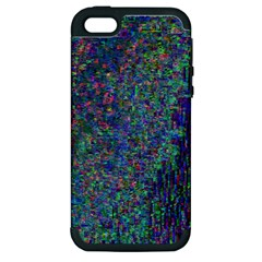 Glitch Art Apple Iphone 5 Hardshell Case (pc+silicone) by Simbadda
