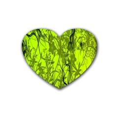 Concept Art Spider Digital Art Green Rubber Coaster (heart)  by Simbadda