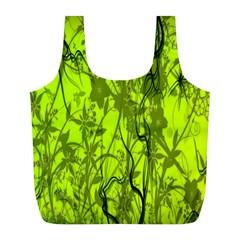 Concept Art Spider Digital Art Green Full Print Recycle Bags (l)  by Simbadda