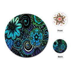 Sun Set Floral Playing Cards (round)  by Simbadda