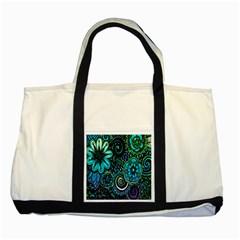 Sun Set Floral Two Tone Tote Bag by Simbadda