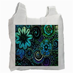 Sun Set Floral Recycle Bag (two Side)  by Simbadda