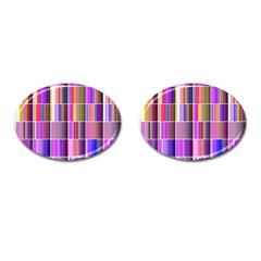 Plasma Gradient Gradation Cufflinks (oval) by Simbadda