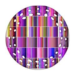 Plasma Gradient Gradation Round Filigree Ornament (two Sides) by Simbadda