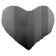 Semi Authentic Screen Tone Gradient Pack Large 19  Premium Heart Shape Cushions by Simbadda